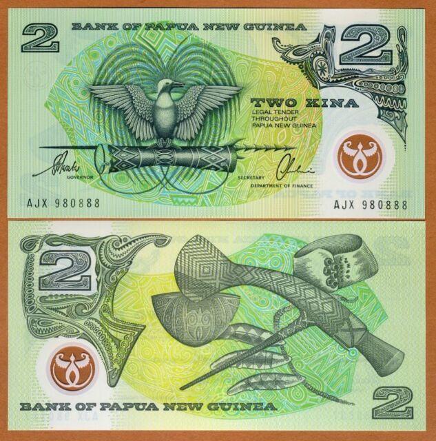 PAPUA NEW GUINEA, 2 KINA, polymer, 1996, P-16 (16b) UNC