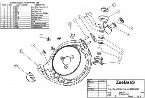 1 ZeeBaaS Part# 21127 Line Roller O-Ring Fits ZeeBaaS 20 22 27 25