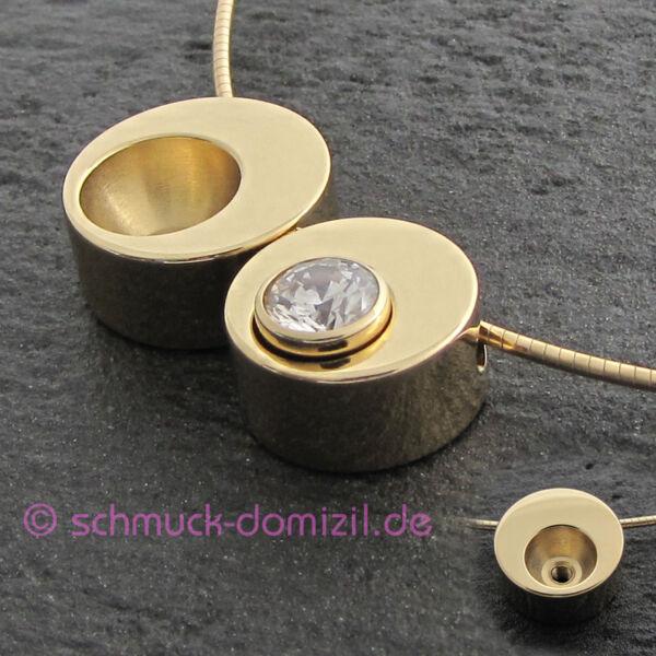 Cadena de nuevo remolque plateado pedrería cristales circonita perla