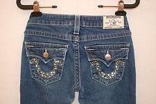True Religion Joey Women's Denim Jeans Rhinestones Measured Size 28 EUC