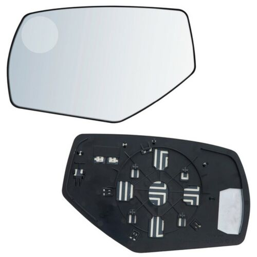 2500 Fits Silverado 1500 3500 Driver Side Mirror Glass With Back Plate Heat