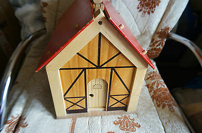 'voila' Wooden Doll House,with Pieces And Dolls Inc Wizard,rare,vintage
