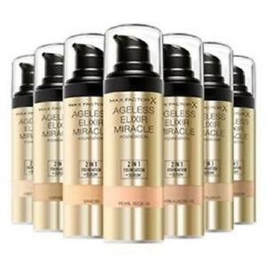 Details about MAX FACTOR Ageless Elixir Miracle Foundation SPF15 30ml - CHOOSE SHADE - NEW