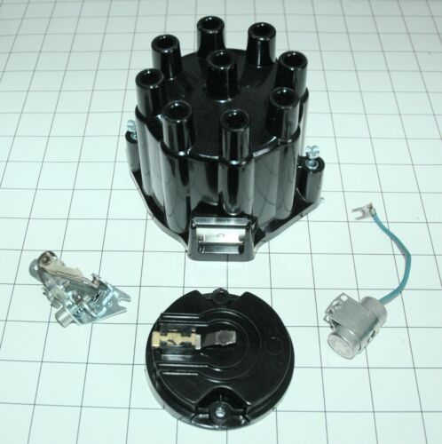 """1958-74 CORVETTE V8 DISTRIBUTOR IGNITION TUNE UP KIT /'MADE IN THE USA/"""" 4PC ALL"""