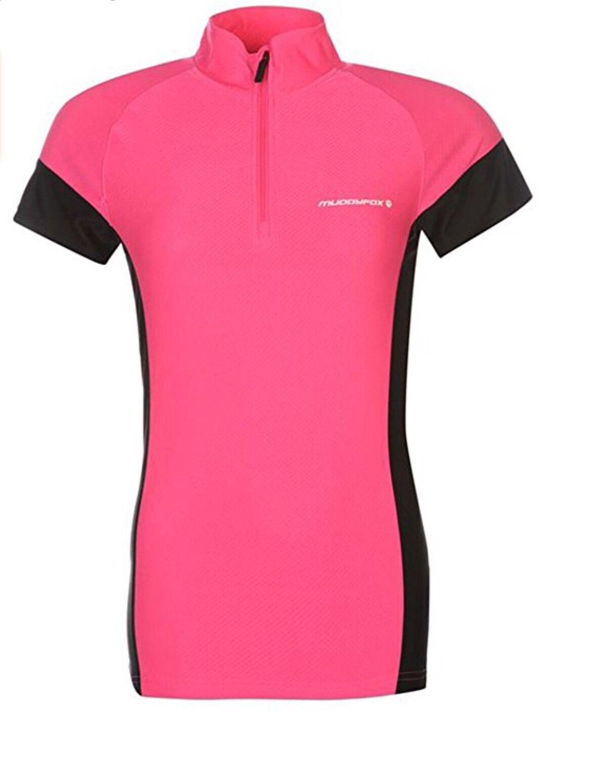 Muddy Muddy Muddy Fox-noir/rose Vélo Haut Et Rembourré Shorts-Taille 10-Bnwt 4f6f61