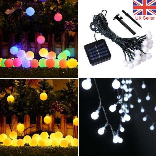 50 LED Solar Battery Global Bulbs Ball Fairy String Lights Party Garden Outdoor