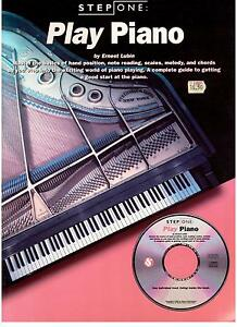 Step-One-PLAY-PIANO-by-Erbest-Lubin-NEW-Book-and-CD
