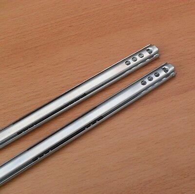 2 Schubladenschienen 185 x 17  mm Schubladenauszug Auszugschienen Teleskopschien