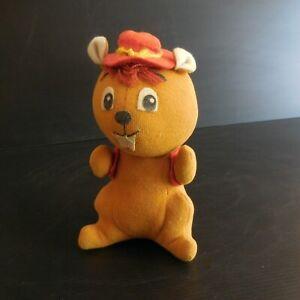 Ecureuil-peluche-figurine-jouet-ancien-vintage-art-nouveau-1920-1940-ITALY-N4555