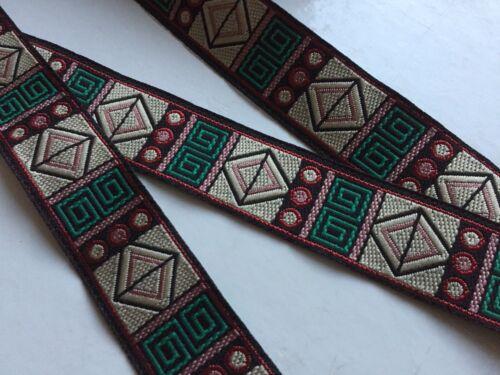 negro Sueño hermoso etno yardas cinta beige rosa 24 mm, verde rojo