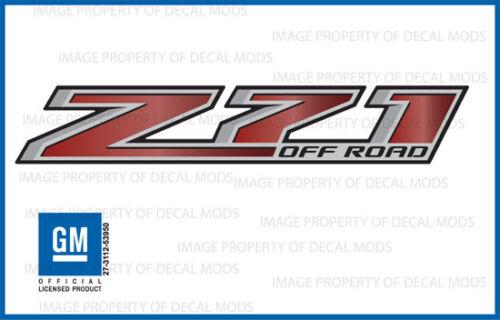 Z71 Off Road Chevy Silverado 2014-2018 Decals Stickers Fade Red Garnet GRGRNT 2