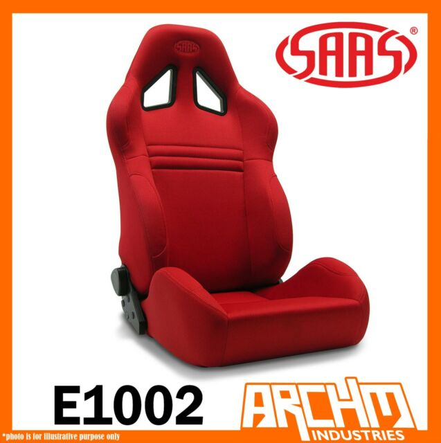 SAAS KOMBAT SPORTS CAR SEAT DUAL RECLINE RED COMFORT SUPPORT ADR SIDE E1002