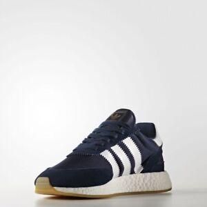 Men Adidas I-5923 Iniki US 11.5 Boost Runner Navy / Running White BB2092