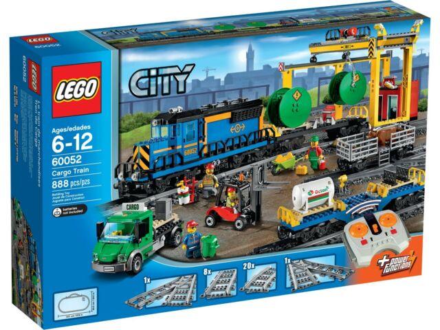 Figure Mint 60052//60098//7939//3677 Lego Train City Blue Cargo Train Truck