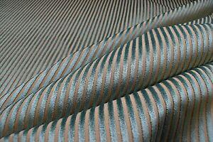 Harlequin Milano Lucia Velvet Stripe Duckegg Upholstery Blind Cushion Fabric