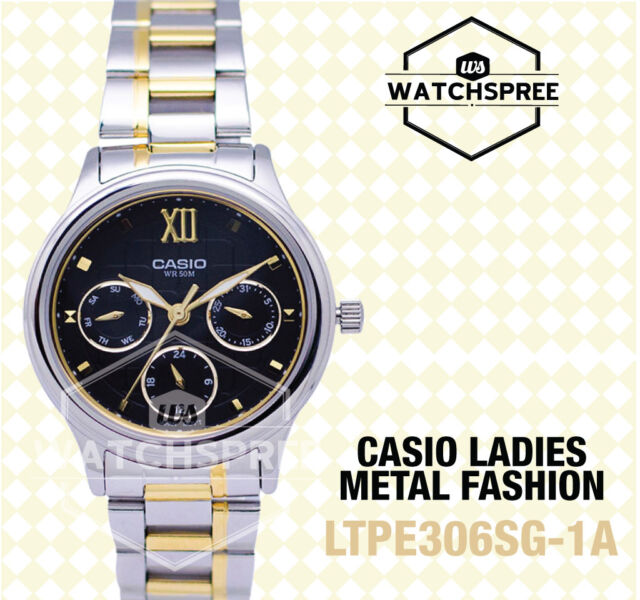 Casio Standard Analog Ladies Watch LTPE306SG-1A LTP-E306SG-1A