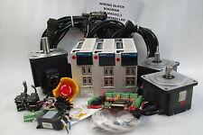 MITSUBISHI SERVO 1KW 750W,3-AXIS KIT,DRIVER MOTOR,MR-J2S-70A,CNC,ROUTER WORKING