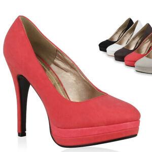 Details zu Damen Pumps Plateau High Heels Spitze Schuhe 894843 Trendy