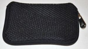 9049891ab8994 Joy Mangano JM NY Sunglasses Glasses Case Pouch Black Mesh Zipper   eBay