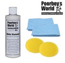 Poorboys World White Diamond Show Glaze High Gloss 16oz + 2 Free Cloths & Pads