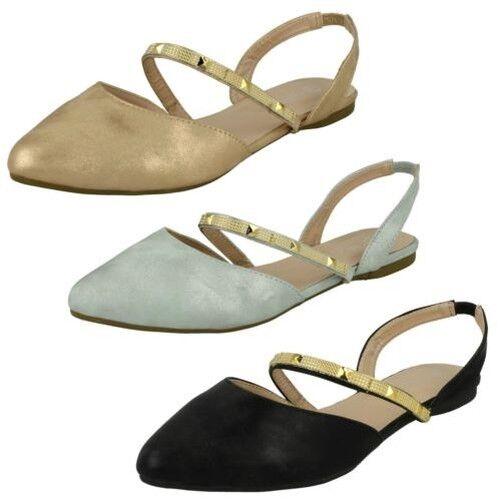 Savannah Sin Mujer TIRA TRASERA Zapatos Sin Savannah Talón 9d0afd