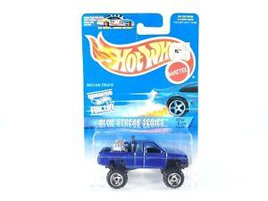 1997-Hot-Wheels-574-Blue-Streak-Series-2-4-NISSAN-TRUCK-Blue-w-Protecto-NEW