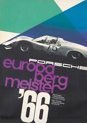 Vintage 1966 Porsche Europa Berg Motor Racing Poster  A3 Print
