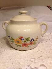 Sweet Flowers Bake Serve 'N Store Stoneware Soup Bowl/Bean Pot J.M.P. Japan1980