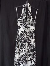 BNWOT *Gharani Strok* Monochrome Halter Neck Dress /Wedding/Occasion UK 8