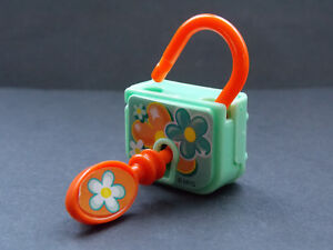 Jouet kinder Cadenas vert-orange TR216J France 2013 CTEPMZvo-09155135-370141378