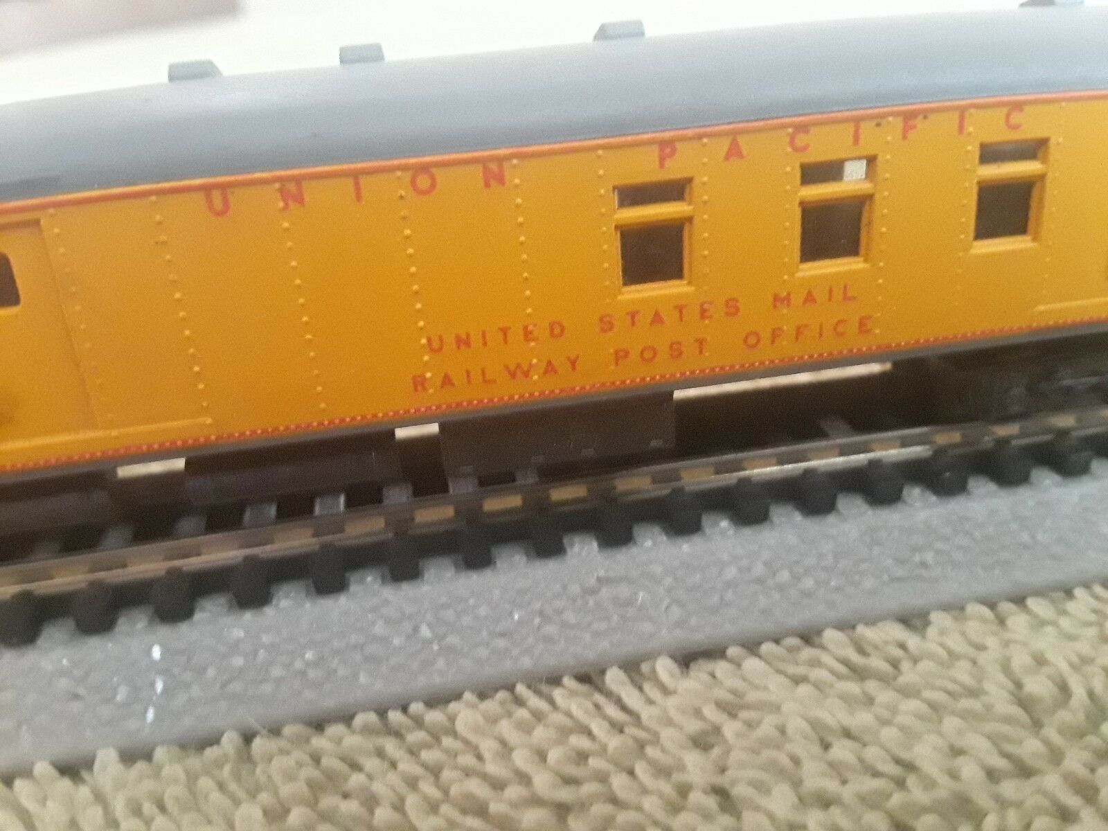 N scale union Pacific railway post office car