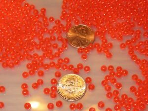 100 6MM ROUND FLUORESCENT YEL FISHING BULK BEADS TACKLE RIG HOOK BEAD FISH RIGS