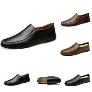 Men-039-s-Loafers-Driving-Moccasin-PU-Leather-Casual-Round-Toe-Boat-Shoes-Slip-on