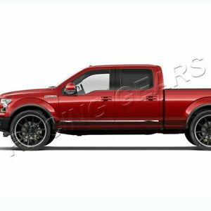 FIT-FORD-F150-CREW-CAB-PICKUP-4-DR-CHROME-ABS-PLASTIC-BODY-SIDE-MOLDING-TRIM