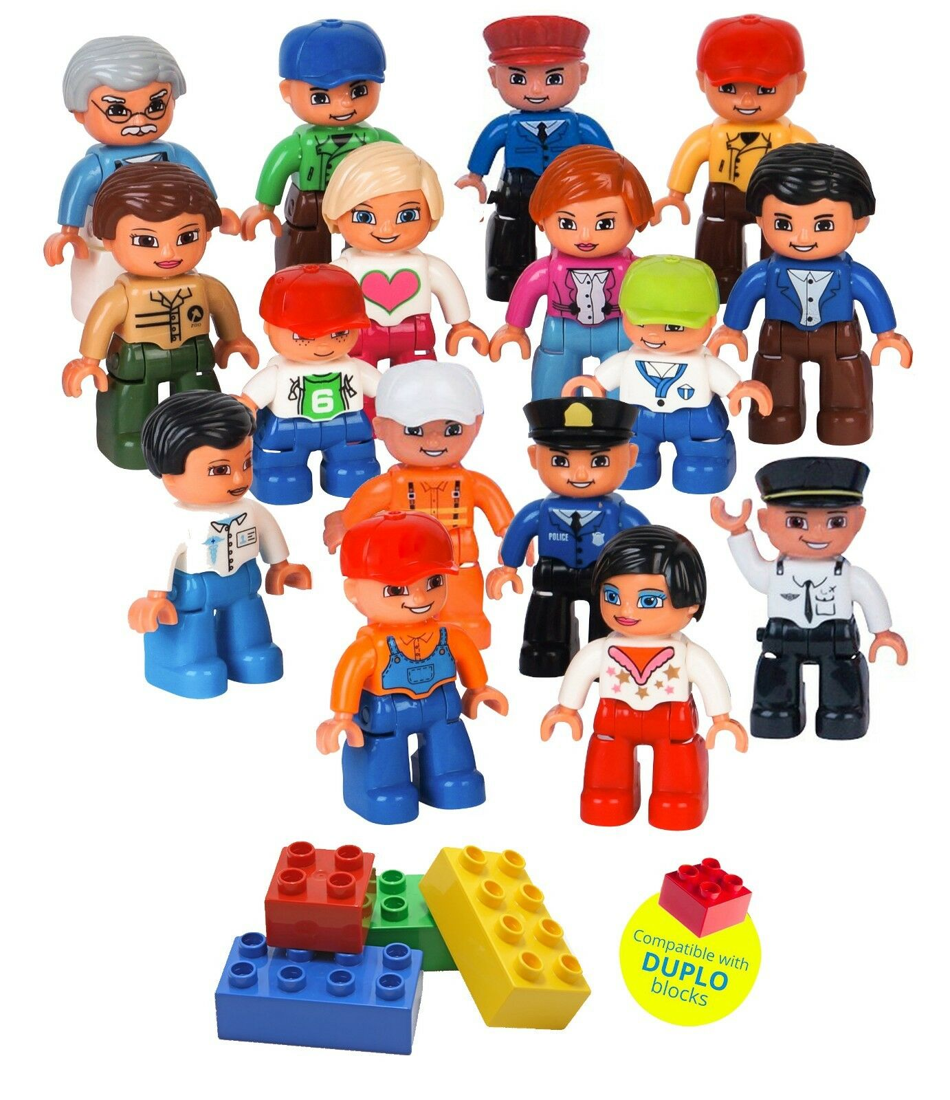 Community figure set set set compatible with (DUPLO) and all major brands 321025