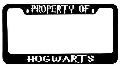 Chrome License Plate Frame Property Of Hogwarts Accessory Harry Potter