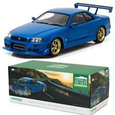 GREENLIGHT 19032 1999 NISSAN SKYLINE GT-R (R34) BAYSIDE BLUE DIECAST CAR 1:18