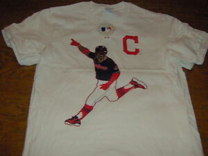 quality design 96ee8 30676 Details about FRANCISCO LINDOR CLEVELAND INDIANS CELEBRATION WHITE T-SHIRT  SMALL YOUTH MLB