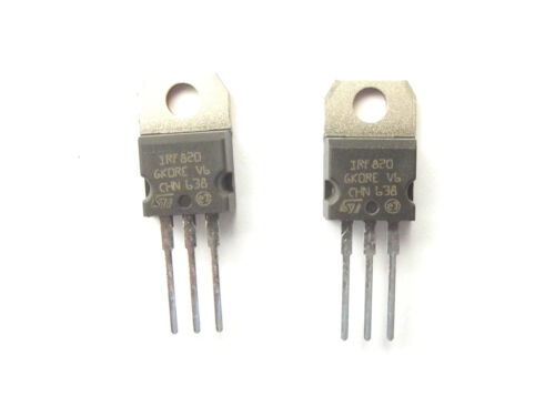 Irf820 ST TRANS preamplificatore MOSFET allo N-CH 500V 2.5 A 3 PIN TO-220 x2pcs
