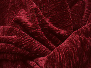 rest 2 75 meterware 180 extra breite thermo chenille stoff blickdicht weinrot ebay. Black Bedroom Furniture Sets. Home Design Ideas