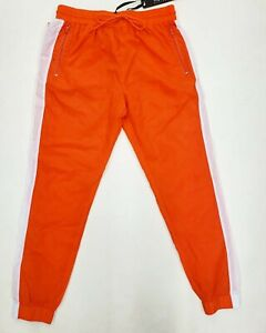 Hudson-Outerwear-100-AUTHENTIC-Men-039-s-LARGE-neon-orange-wind-breaker-joggers