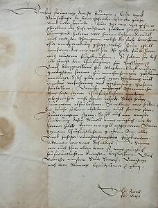 URKUNDE-HANDSCHRIFT-THURINGEN-GOTHA-KURFURST-VON-SACHSEN-RENTSCHREIBER-1544