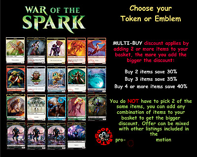 10x Wall Token NM-Mint English War of the Spark MTG Magic