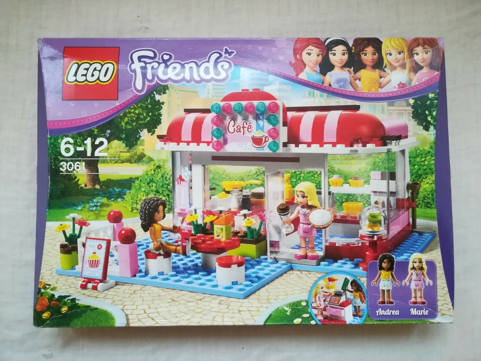 Lego Friends 3061 CITY PARK CAFE - Brand new sealed with shelfwear
