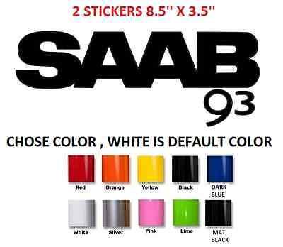 #38 2 X SAAB 9.3 9-3 93 BODY CAR STICKER DECAL VINYL GRAPHIC