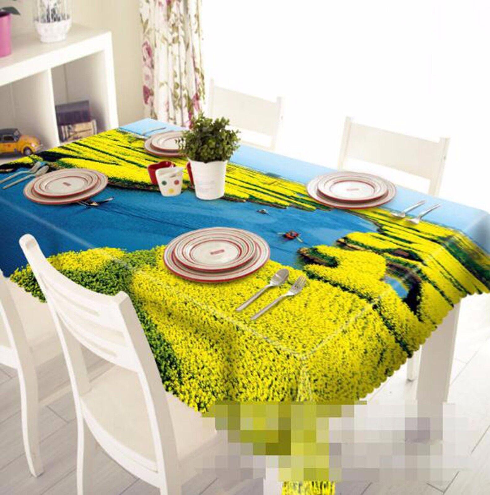 3D 3D 3D Rape River Tablecloth Table Cover Cloth Birthday Party AJ WALLPAPER UK Lemon e5e7d4