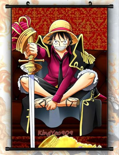 Anime ONE PIECE Monkey D Luffy Home Wall Art  Decoration Scroll Poster 90*60CM