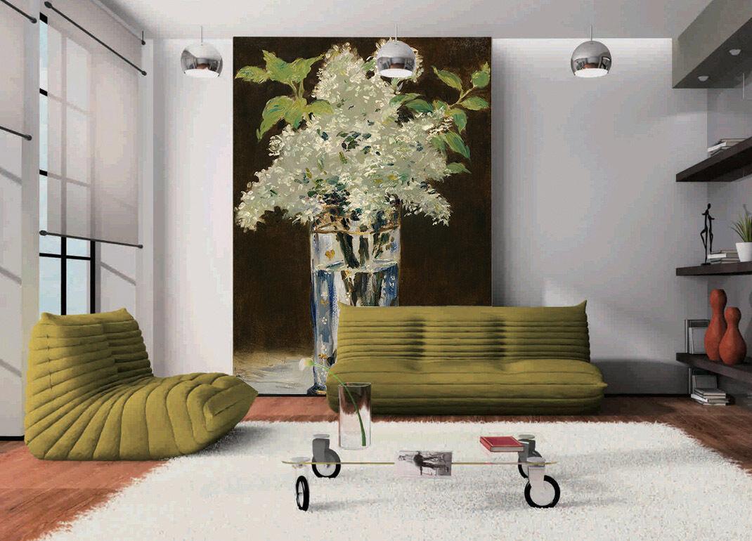 3D Glas - vase MIT Blaumen 234 Fototapeten Wandbild Fototapete BildTapete Familie