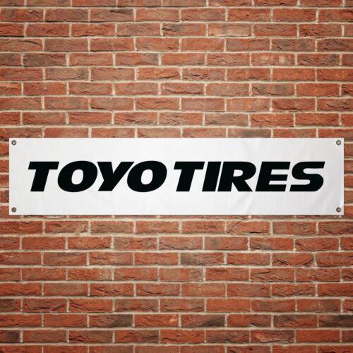 Toyo Tires Banner Garage Workshop PVC Sign Trackside Car Display White