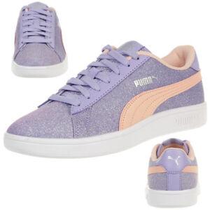 Girls Mauve Puma Smash V2 Glitz Glam JR Sneakers | Puma